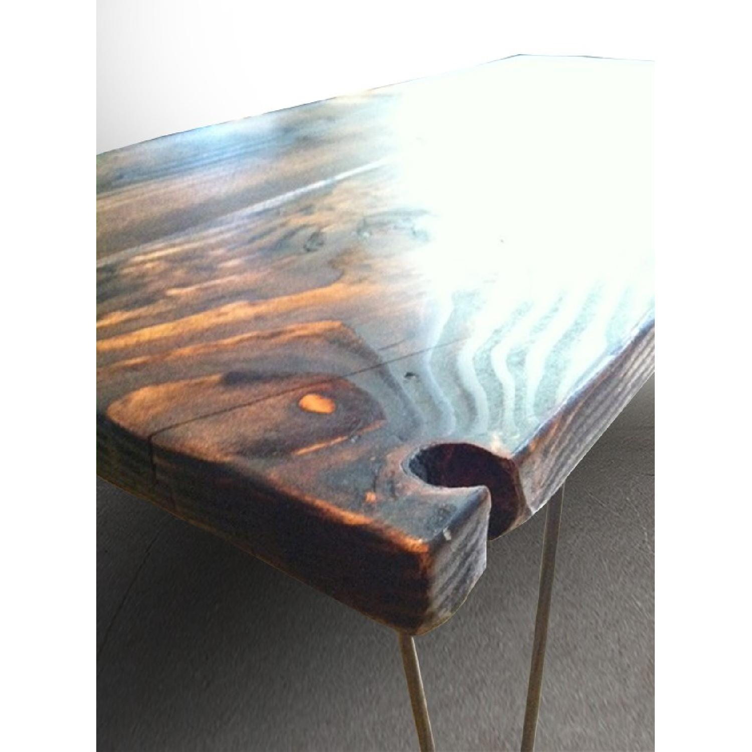 FurnitureNYC Manhattan Reclaimed Coffee Table w/ Hairpin Legs - image-5