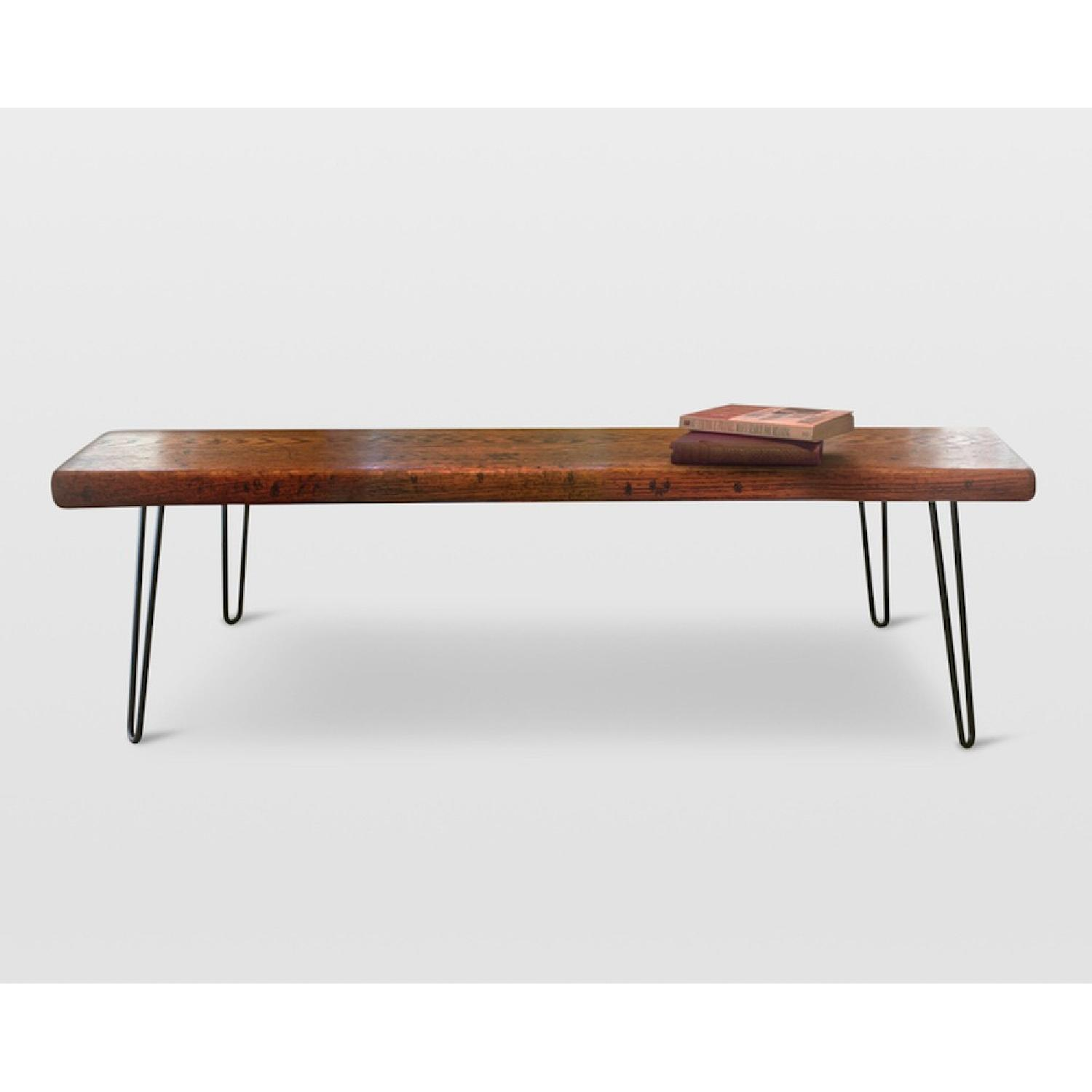 FurnitureNYC Manhattan Reclaimed Coffee Table w/ Hairpin Legs - image-7