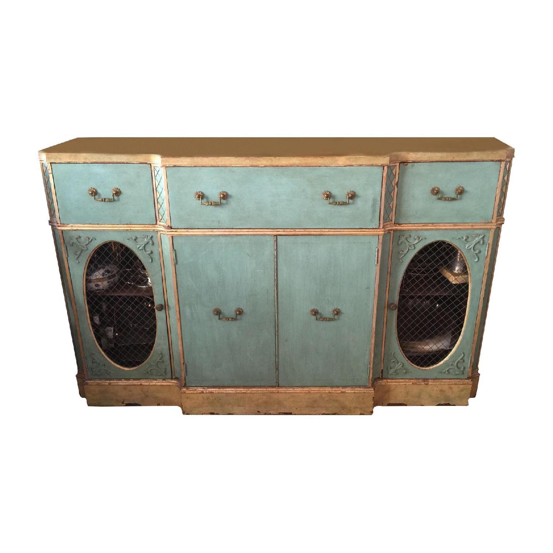 Vintage Painted Wood Sideboard - image-0
