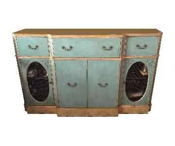 Vintage Painted Wood Sideboard