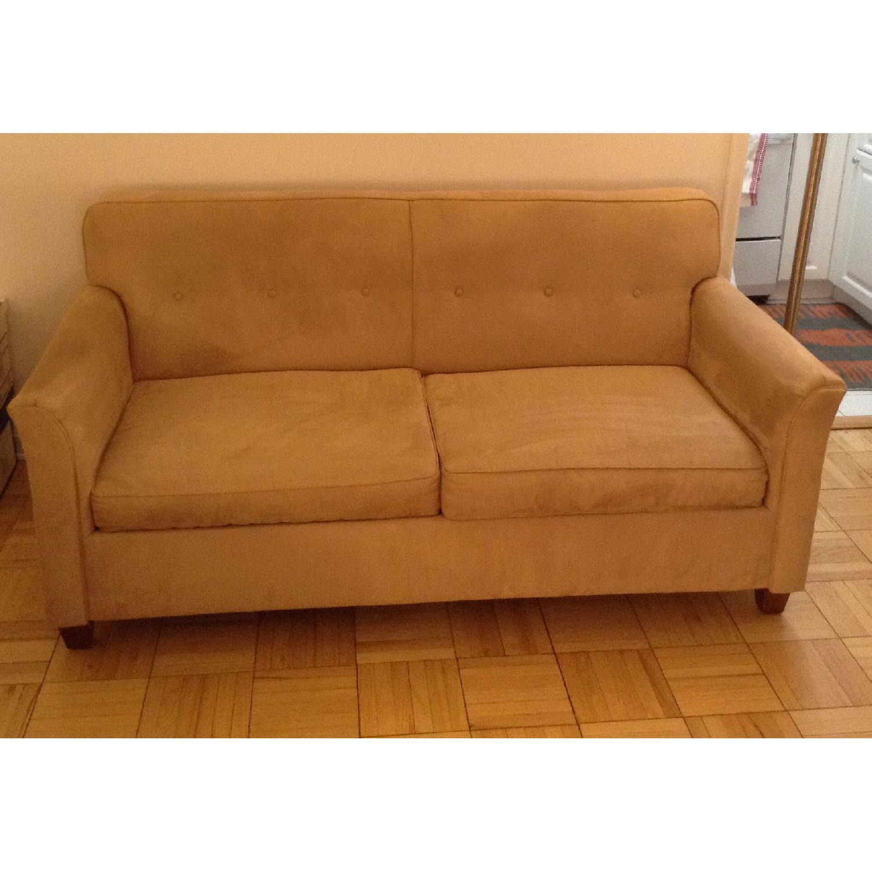 JC Penney Microfiber Apartment/Full Size Sleeper Sofa - image-1