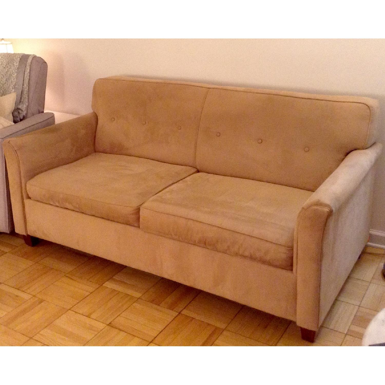 JC Penney Microfiber Apartment/Full Size Sleeper Sofa - image-2