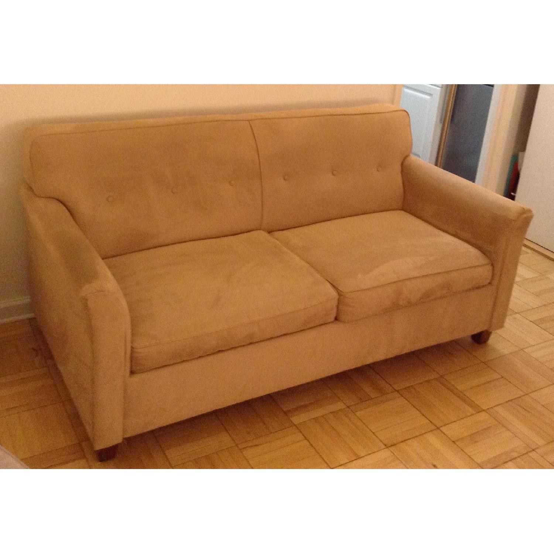JC Penney Microfiber Apartment/Full Size Sleeper Sofa - image-3
