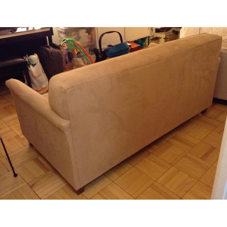 JC Penney Microfiber Apartment/Full Size Sleeper Sofa - image-4