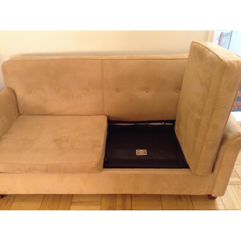 JC Penney Microfiber Apartment/Full Size Sleeper Sofa - image-5