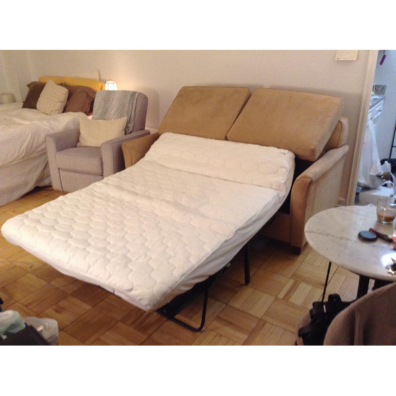 JC Penney Microfiber Apartment/Full Size Sleeper Sofa - image-6