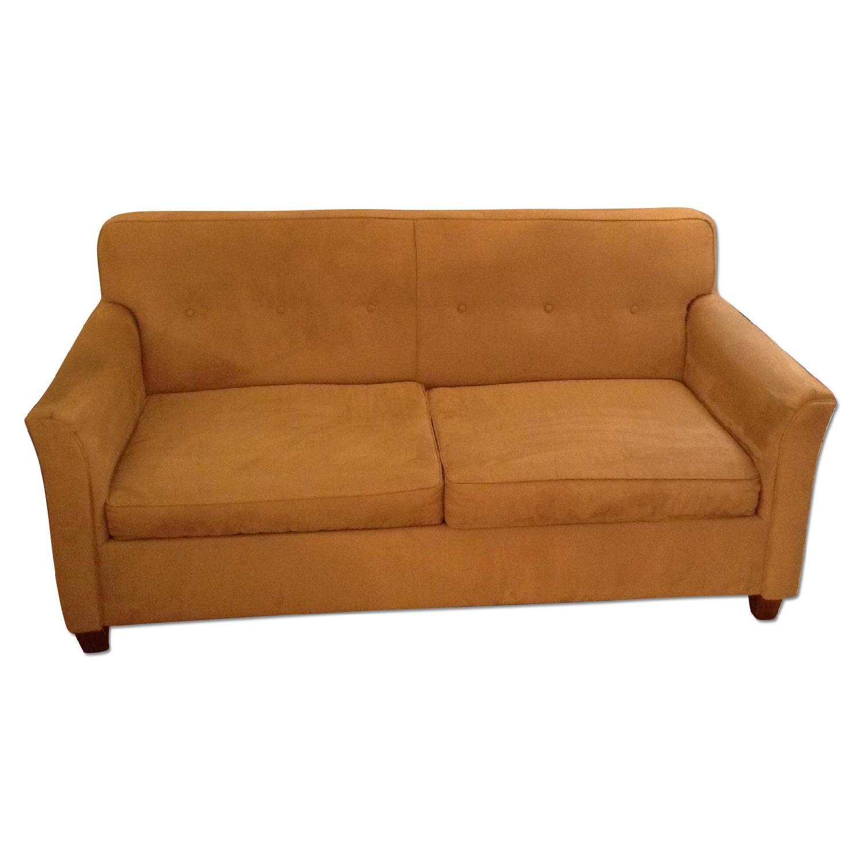 JC Penney Microfiber Apartment/Full Size Sleeper Sofa - image-0