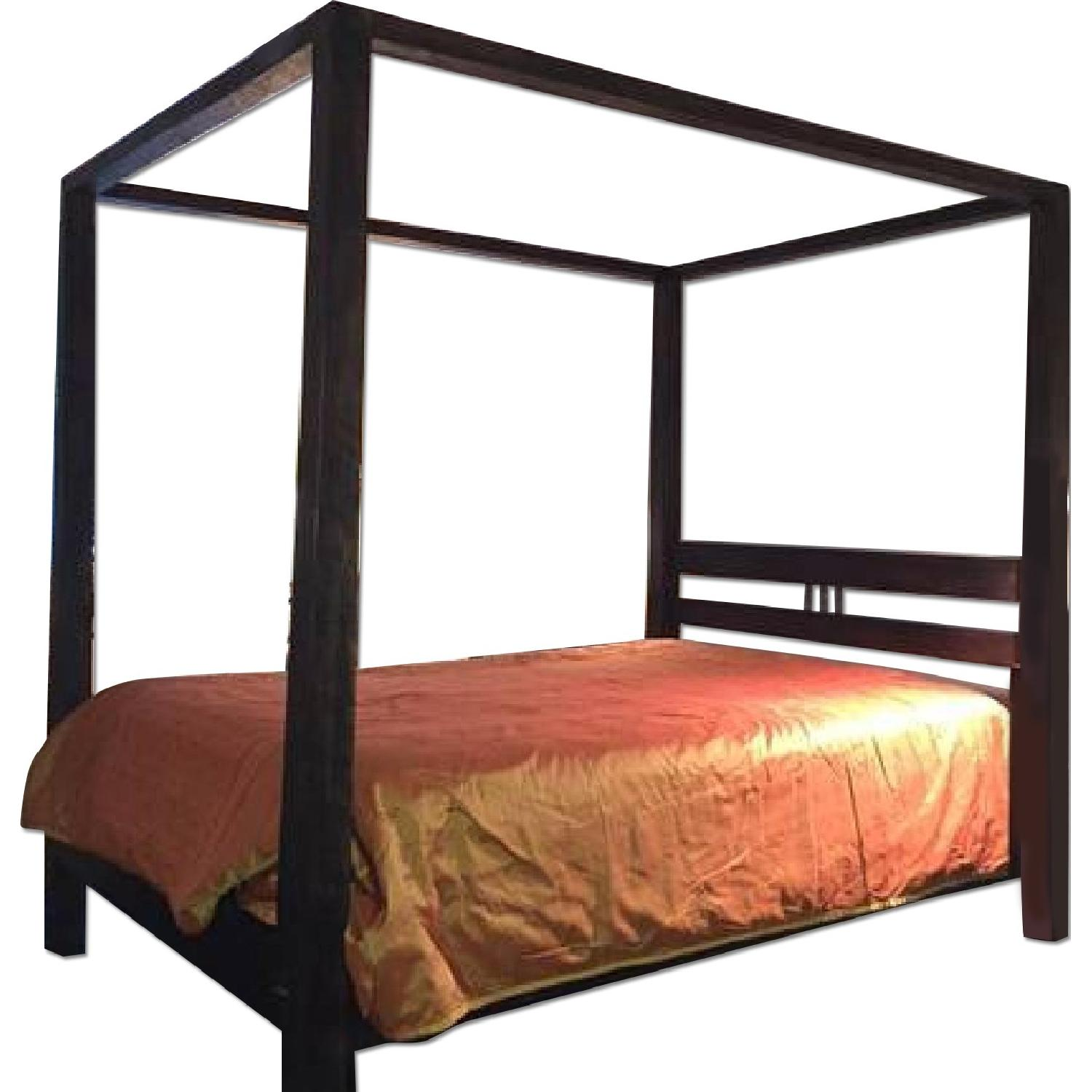 Solid Reclaimed Teak Wood Four Poster Queen Size Bed - image-0