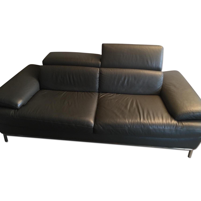 Borromini Grey Leather Sofa - image-0