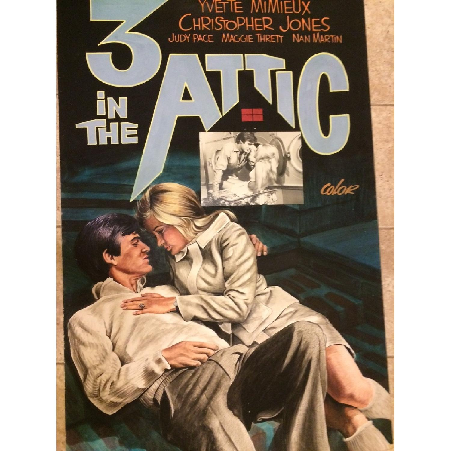 John Lomasney Hand-Painted Movie Poster - Three in the Attic - image-1