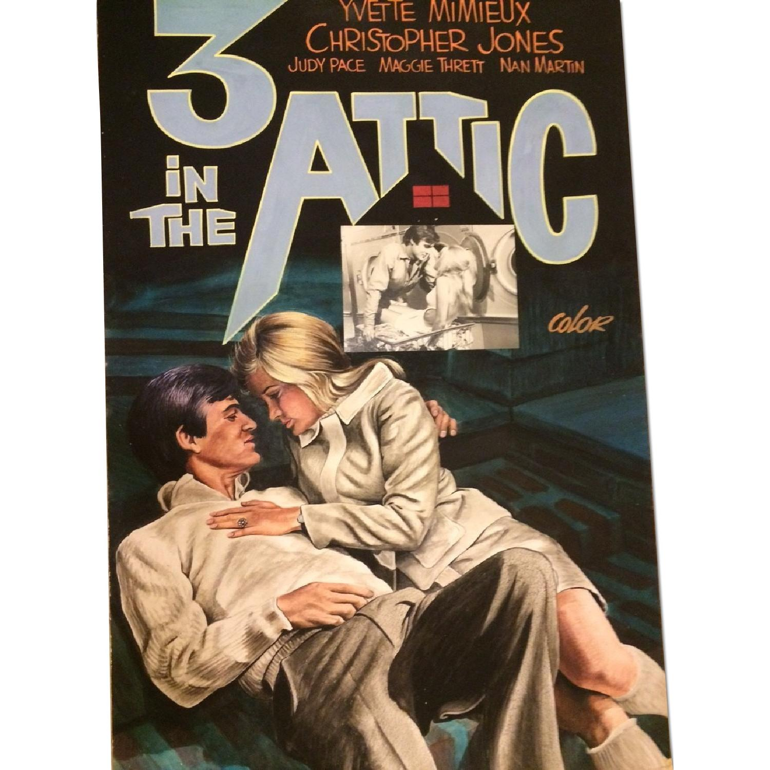 John Lomasney Hand-Painted Movie Poster - Three in the Attic - image-0