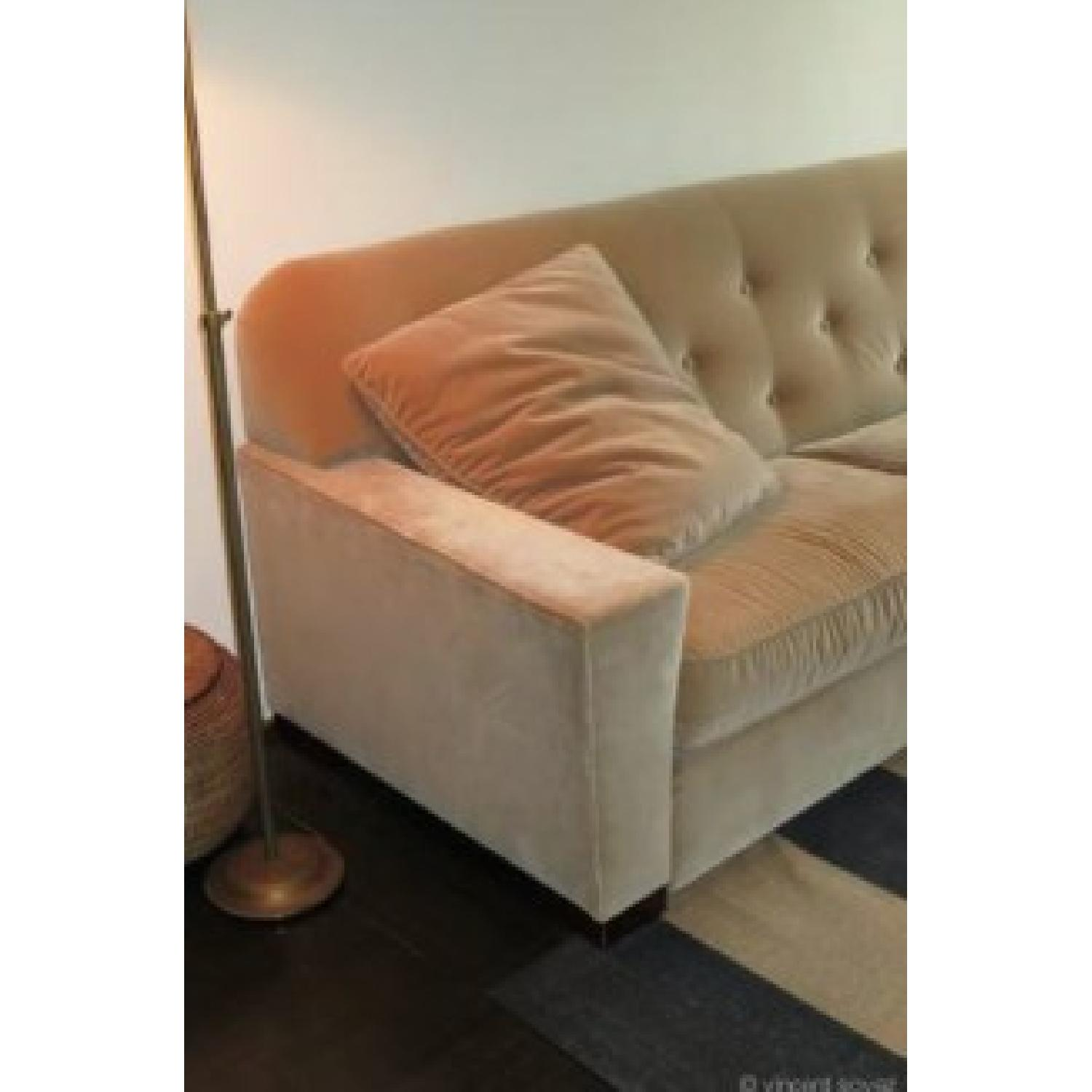 ABC Carpet & Home Cotton Velvet Sofa - image-1