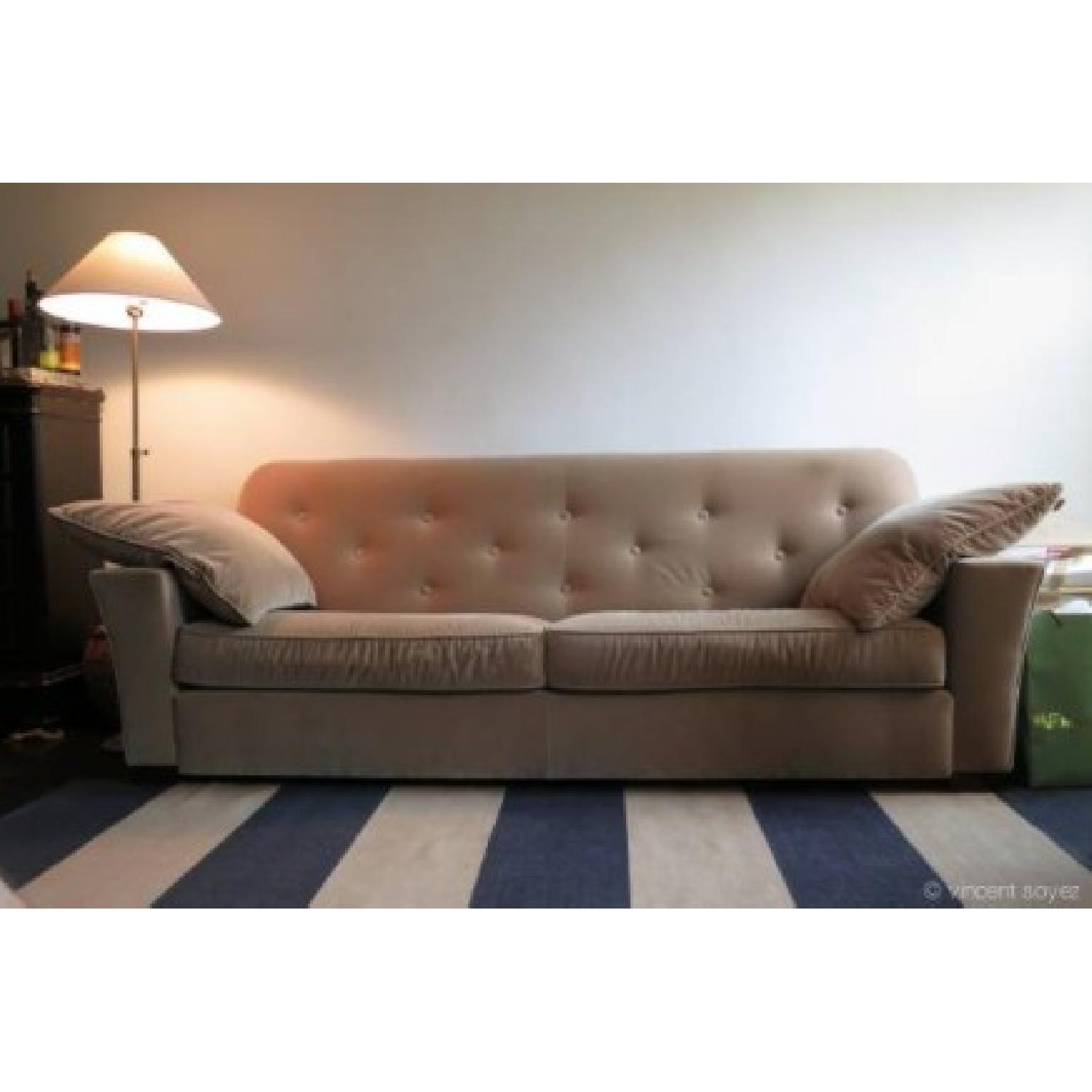 ABC Carpet & Home Cotton Velvet Sofa - image-2