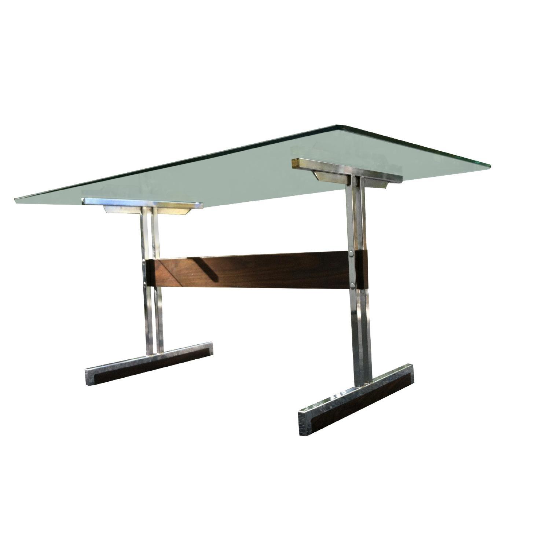 Vintage Mod Glass Desk/Dining Table - image-3