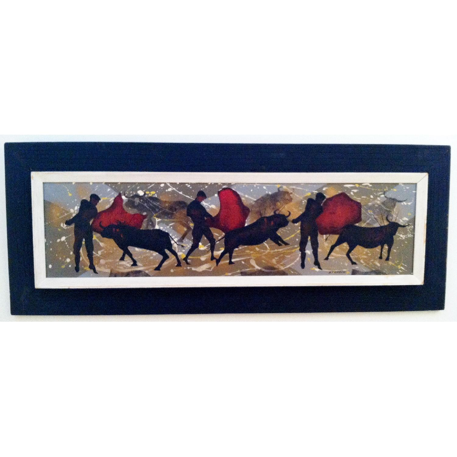 Matadors -  1950's Original Painting by Listed Artist - image-1