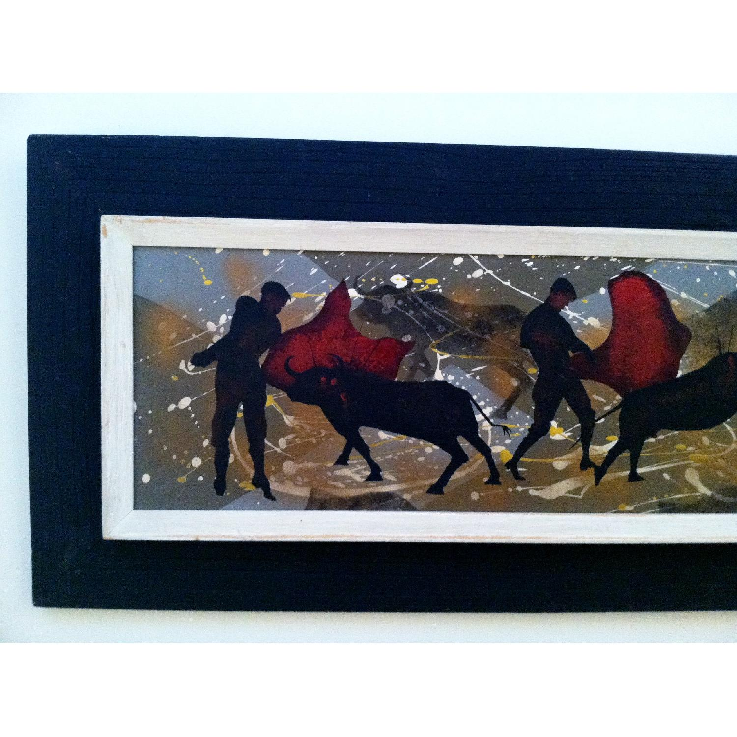 Matadors -  1950's Original Painting by Listed Artist - image-2
