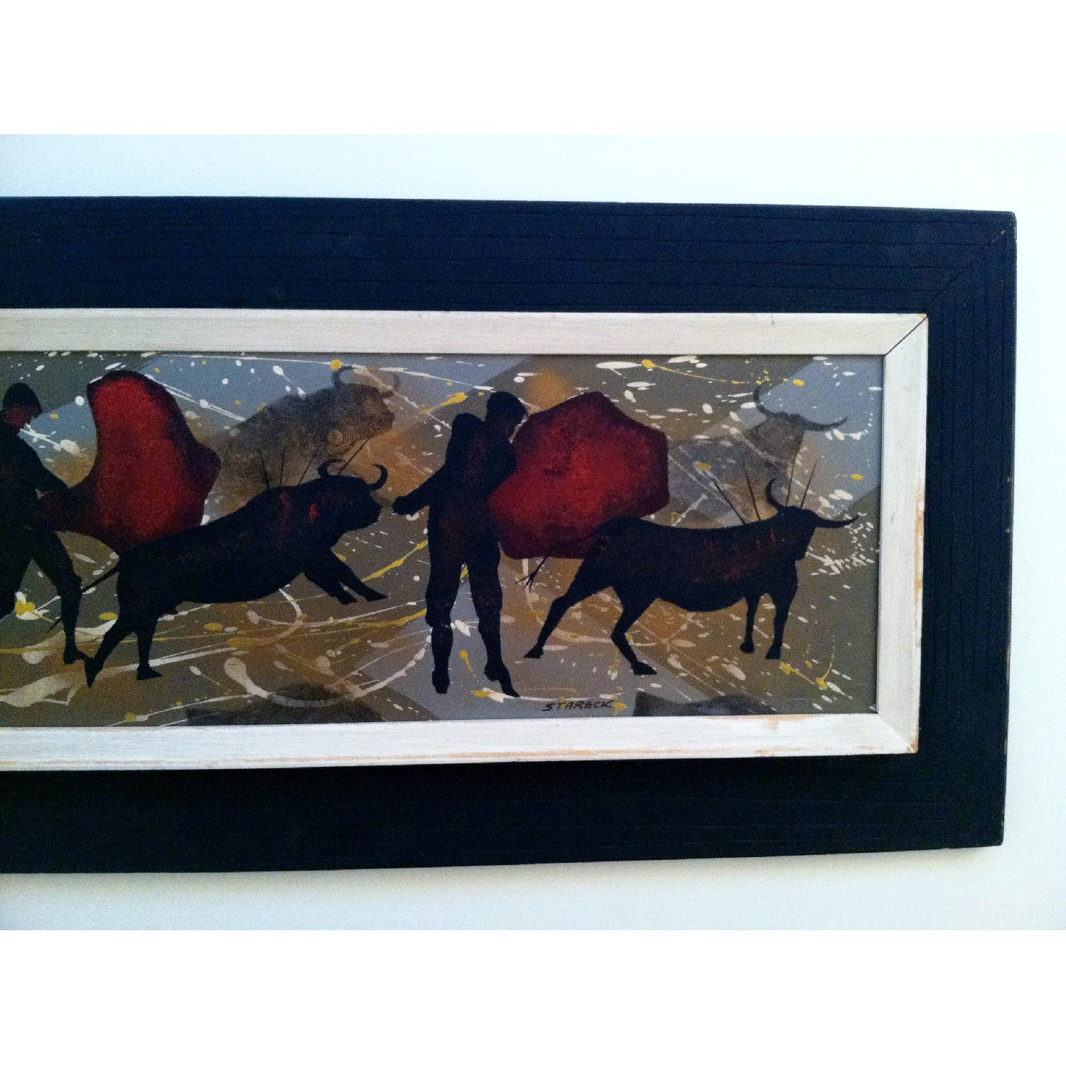 Matadors -  1950's Original Painting by Listed Artist - image-3