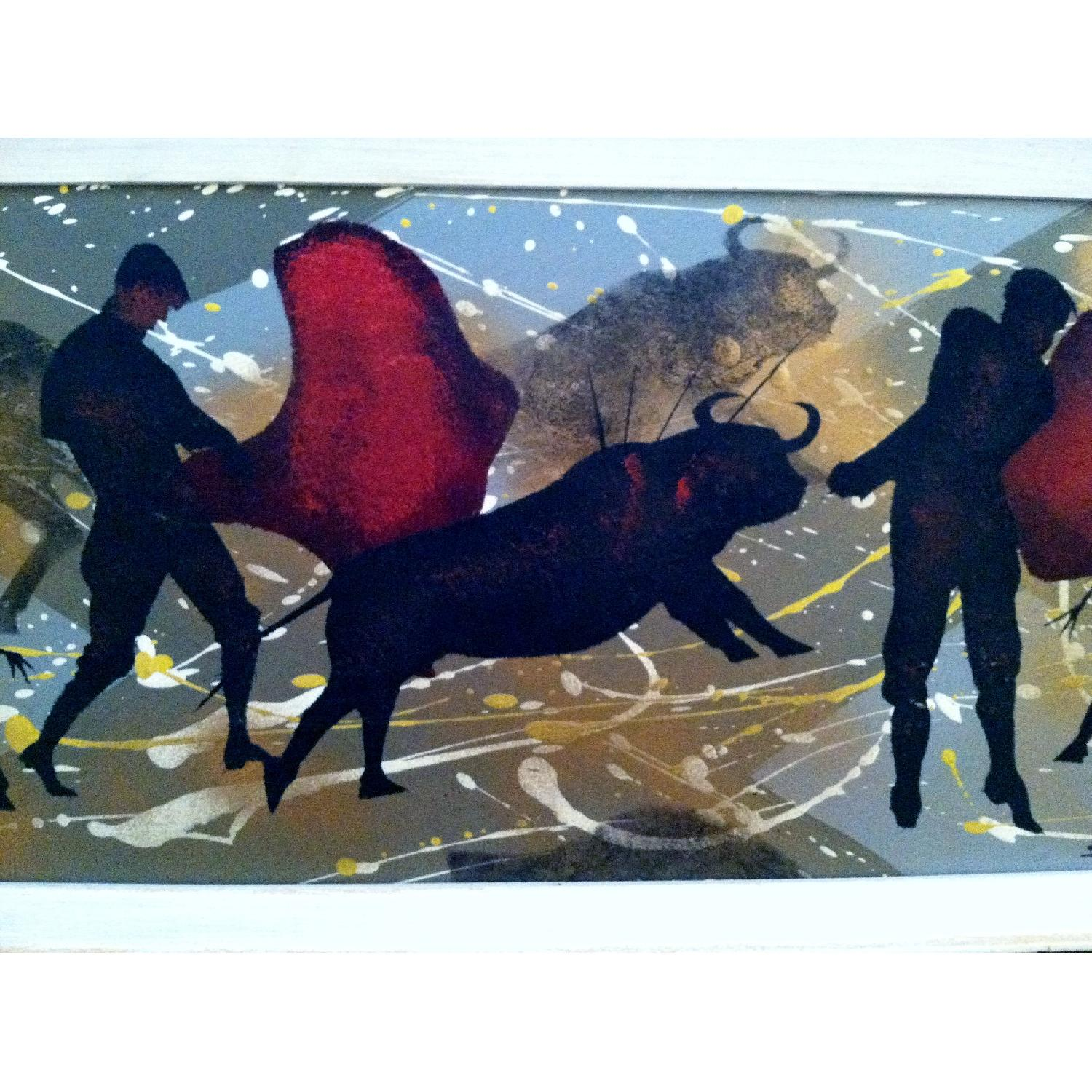 Matadors -  1950's Original Painting by Listed Artist - image-5