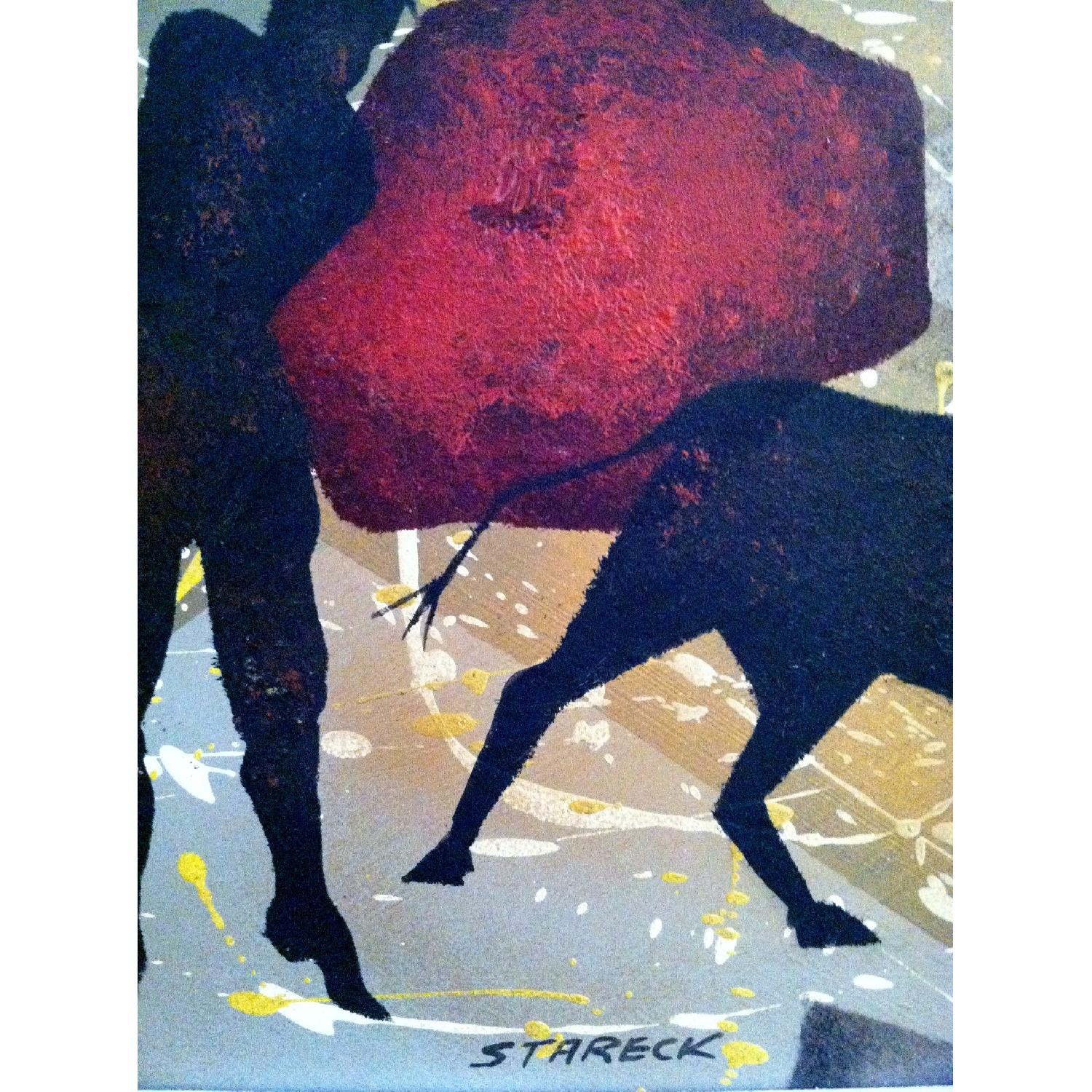 Matadors -  1950's Original Painting by Listed Artist - image-6