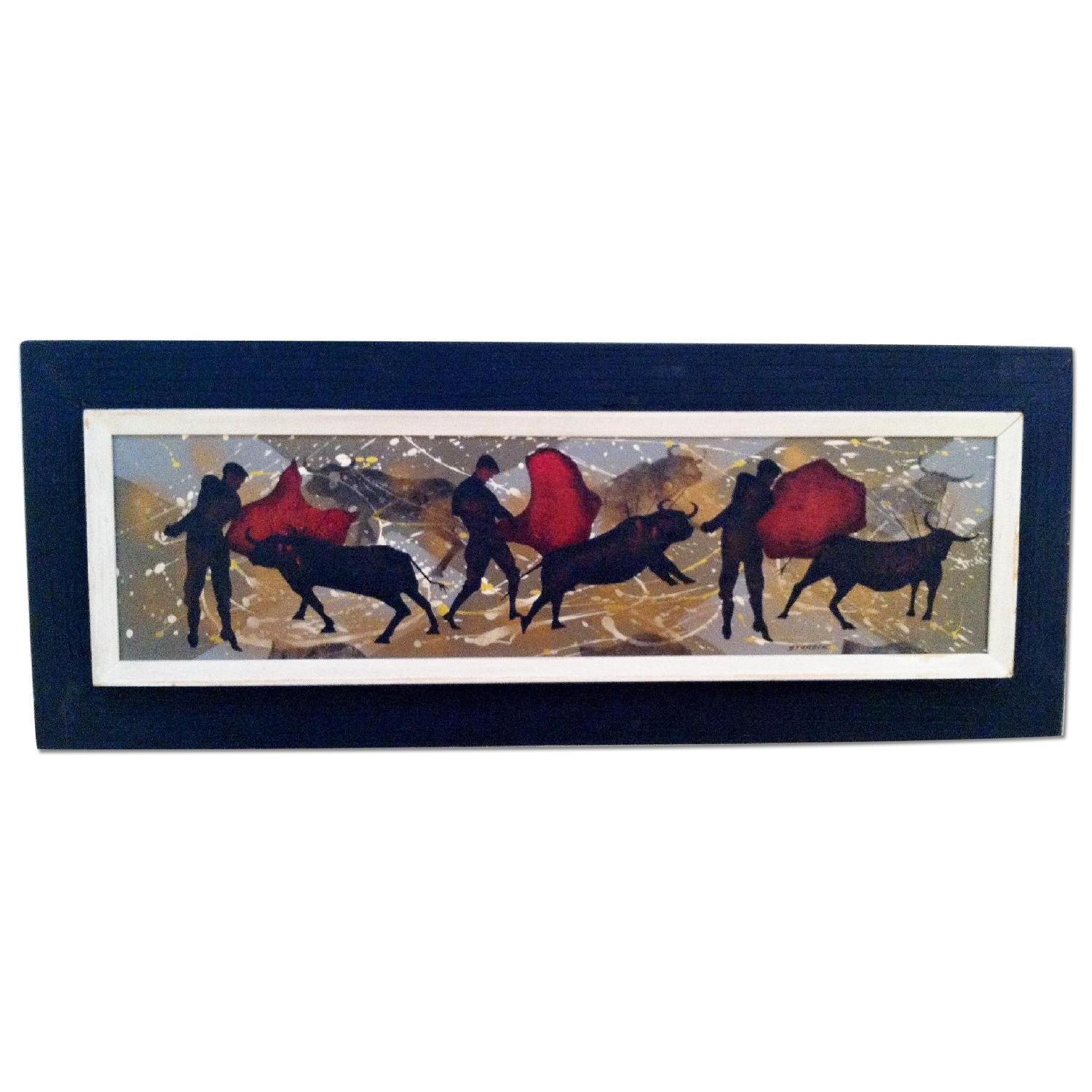 Matadors -  1950's Original Painting by Listed Artist - image-0