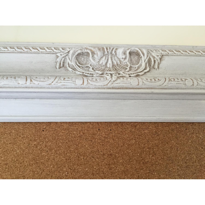 Revived Vintage White Framed Cork Board - image-4