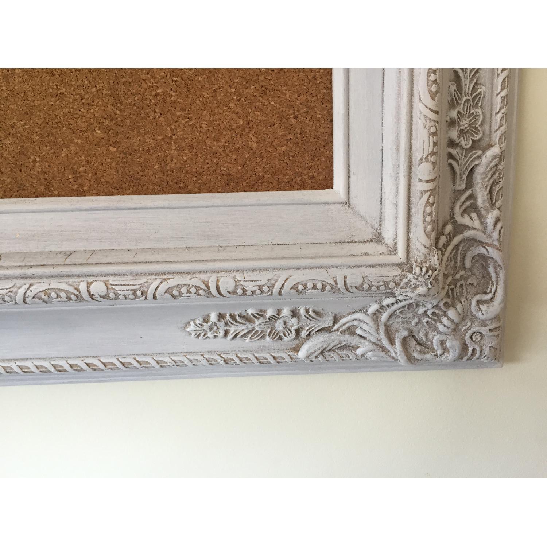 Revived Vintage White Framed Cork Board - image-5