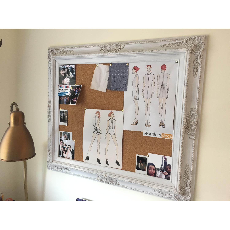 Revived Vintage White Framed Cork Board - image-6