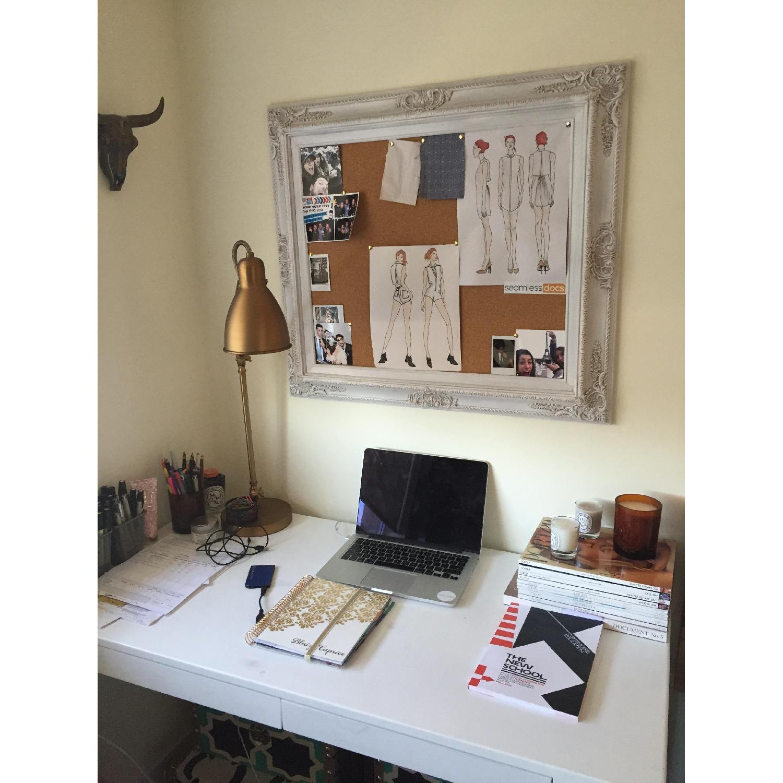 Revived Vintage White Framed Cork Board - image-7