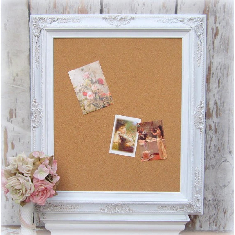 Revived Vintage White Framed Cork Board - image-8