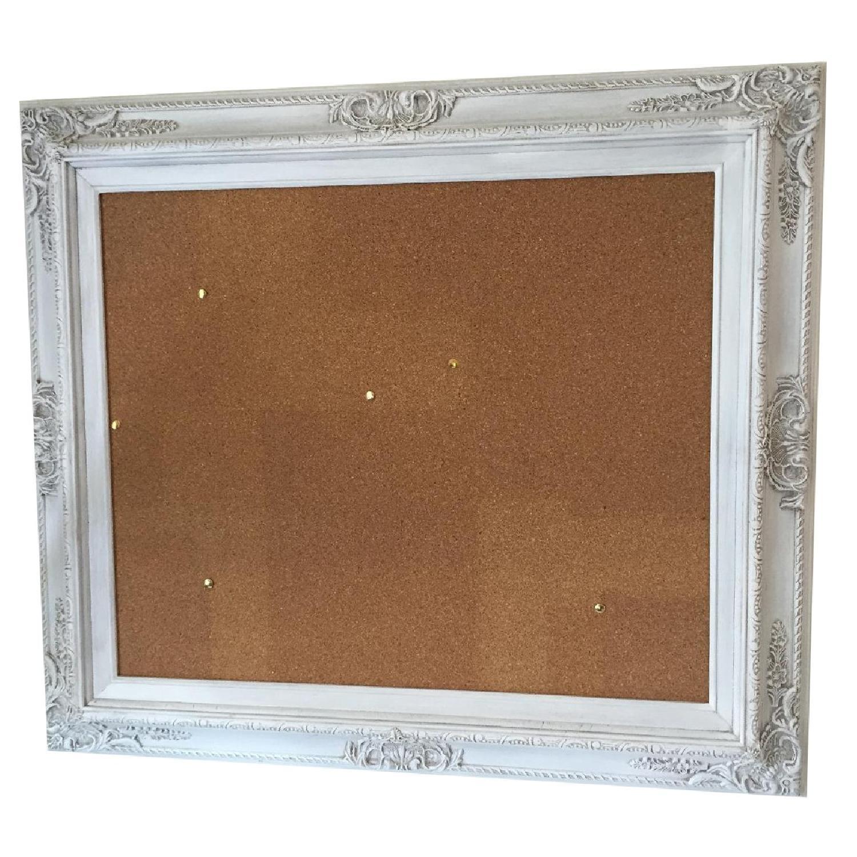 Revived Vintage White Framed Cork Board - image-0