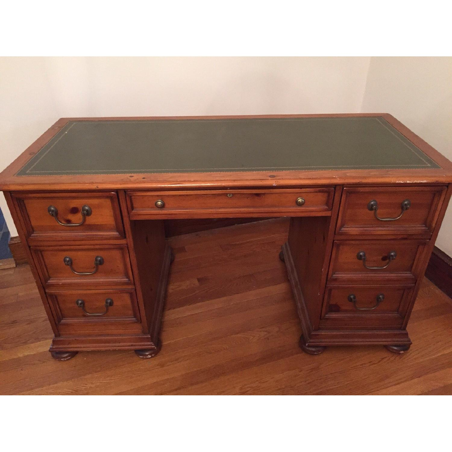 Sligh Desk with Leather Top - image-1