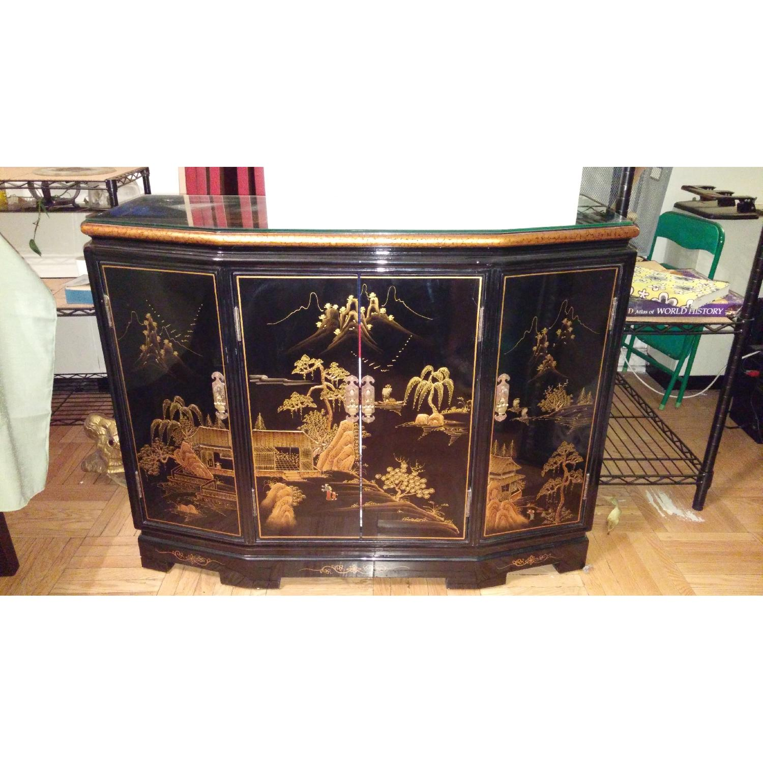 Vintage Chinese Lacquer Cabinet - image-1