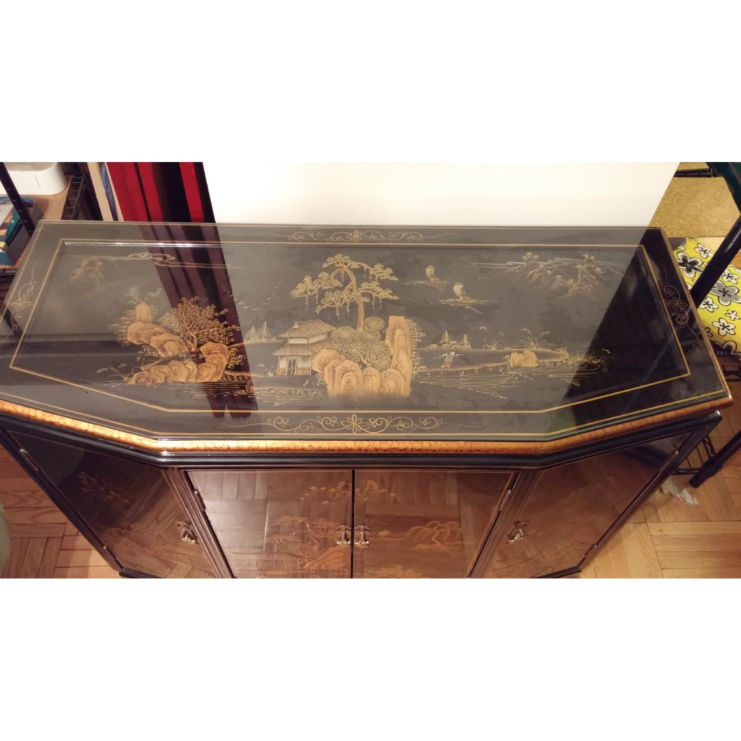Vintage Chinese Lacquer Cabinet - image-2