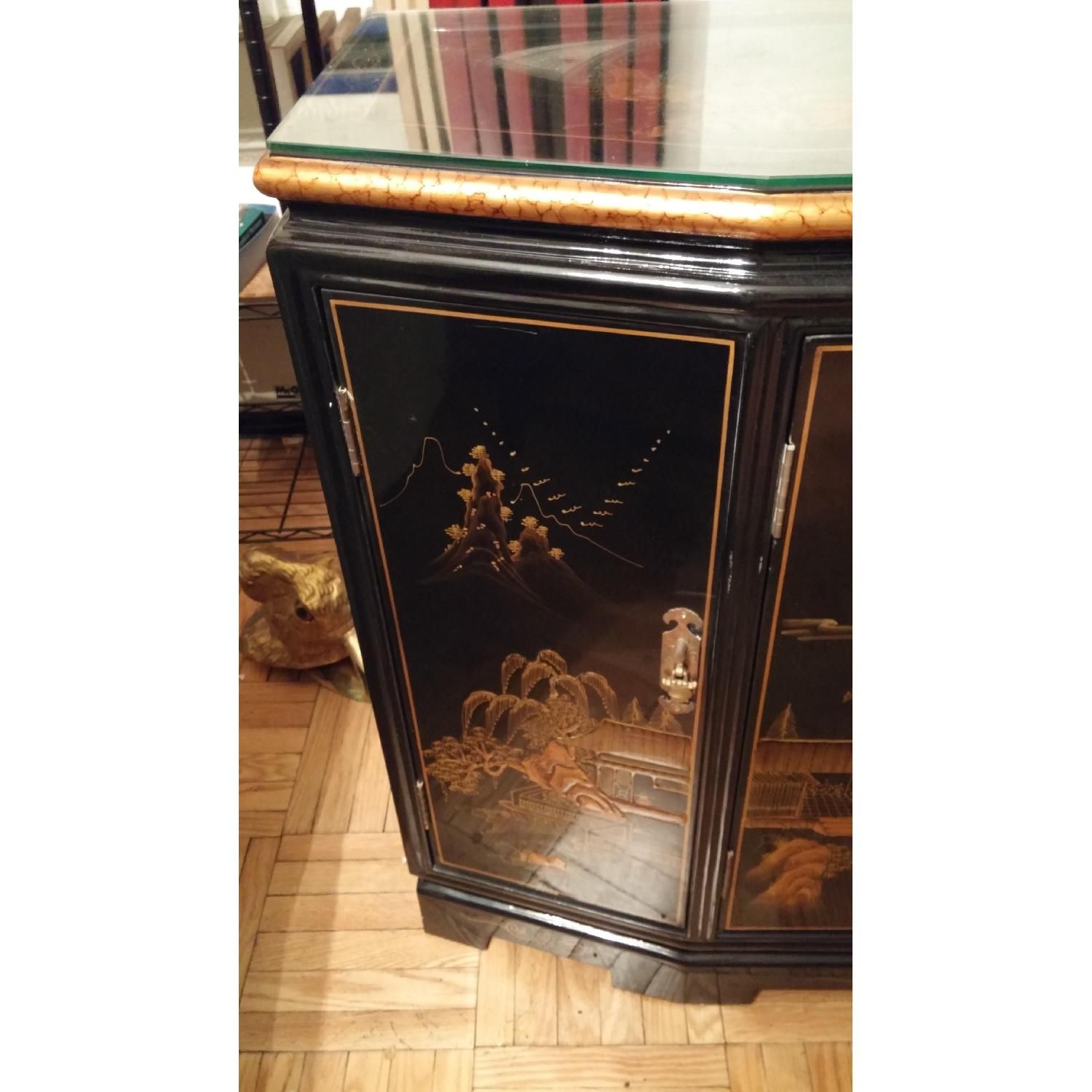 Vintage Chinese Lacquer Cabinet - image-3