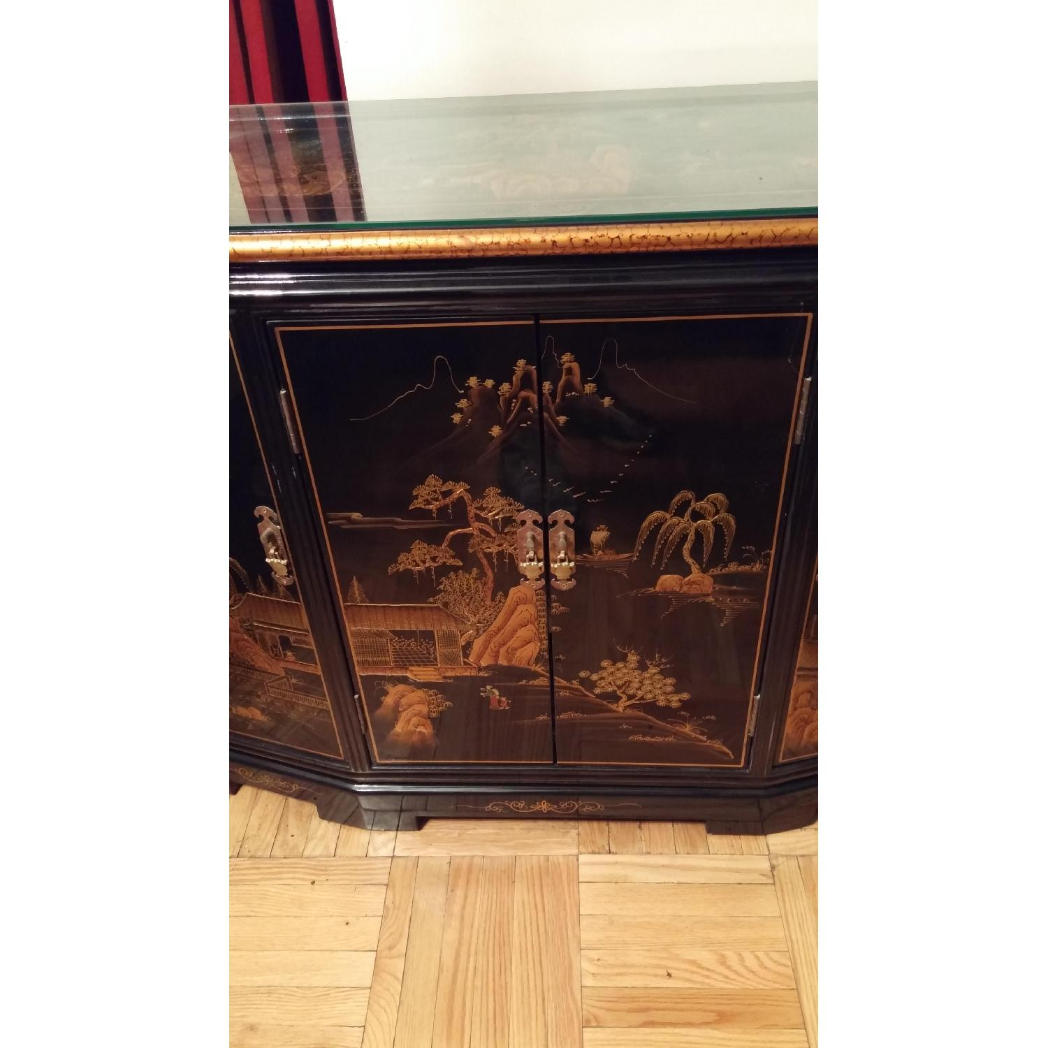 Vintage Chinese Lacquer Cabinet - image-4