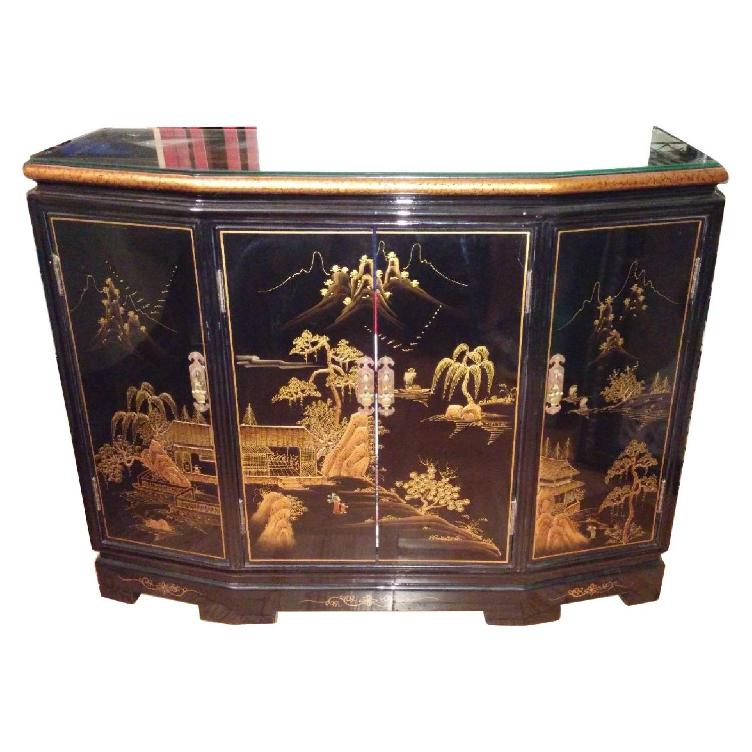 Vintage Chinese Lacquer Cabinet - image-0