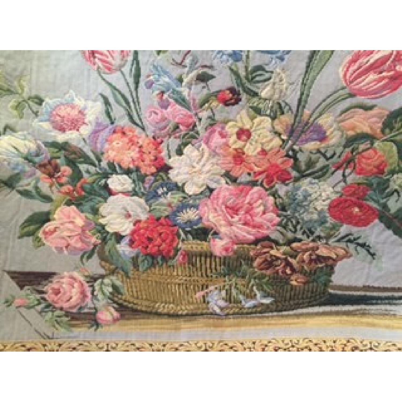 Vintage French Floral Tapestry Rug - image-2