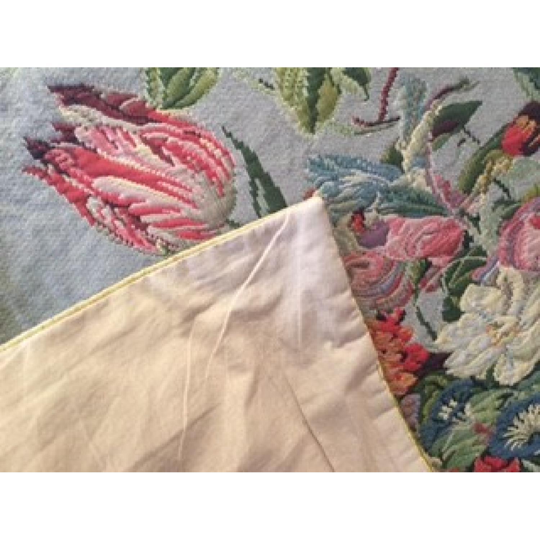 Vintage French Floral Tapestry Rug - image-3