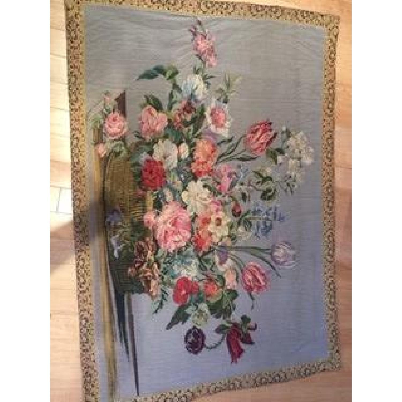 Vintage French Floral Tapestry Rug - image-4