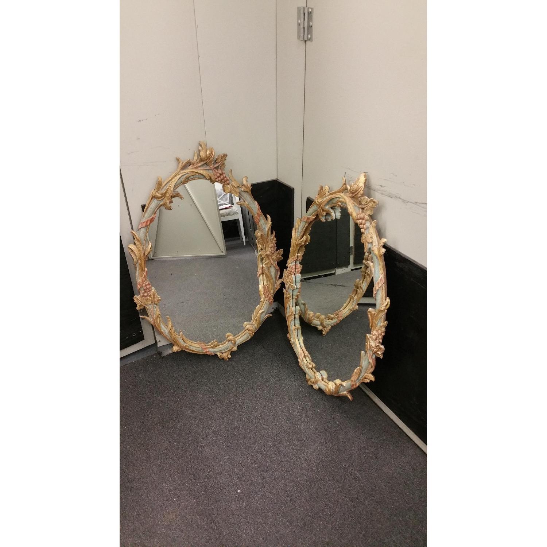 Italian Made Vintage Ornate Mirrors  - Pair - image-1