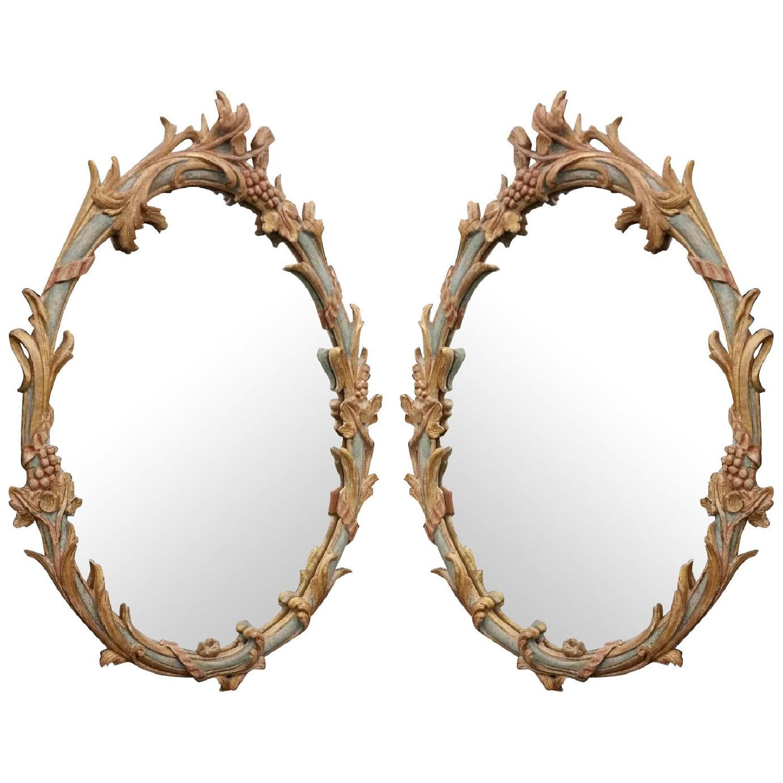 Italian Made Vintage Ornate Mirrors  - Pair - image-0
