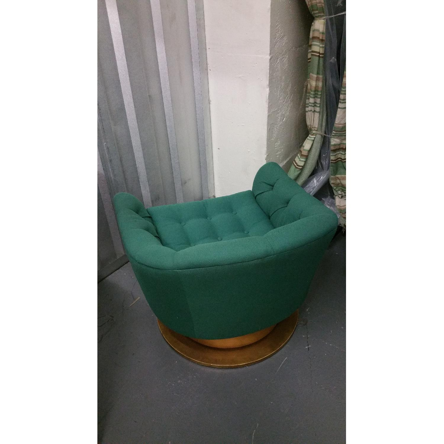 Emerald Green Swivel Tub Chairs - Pair - image-2