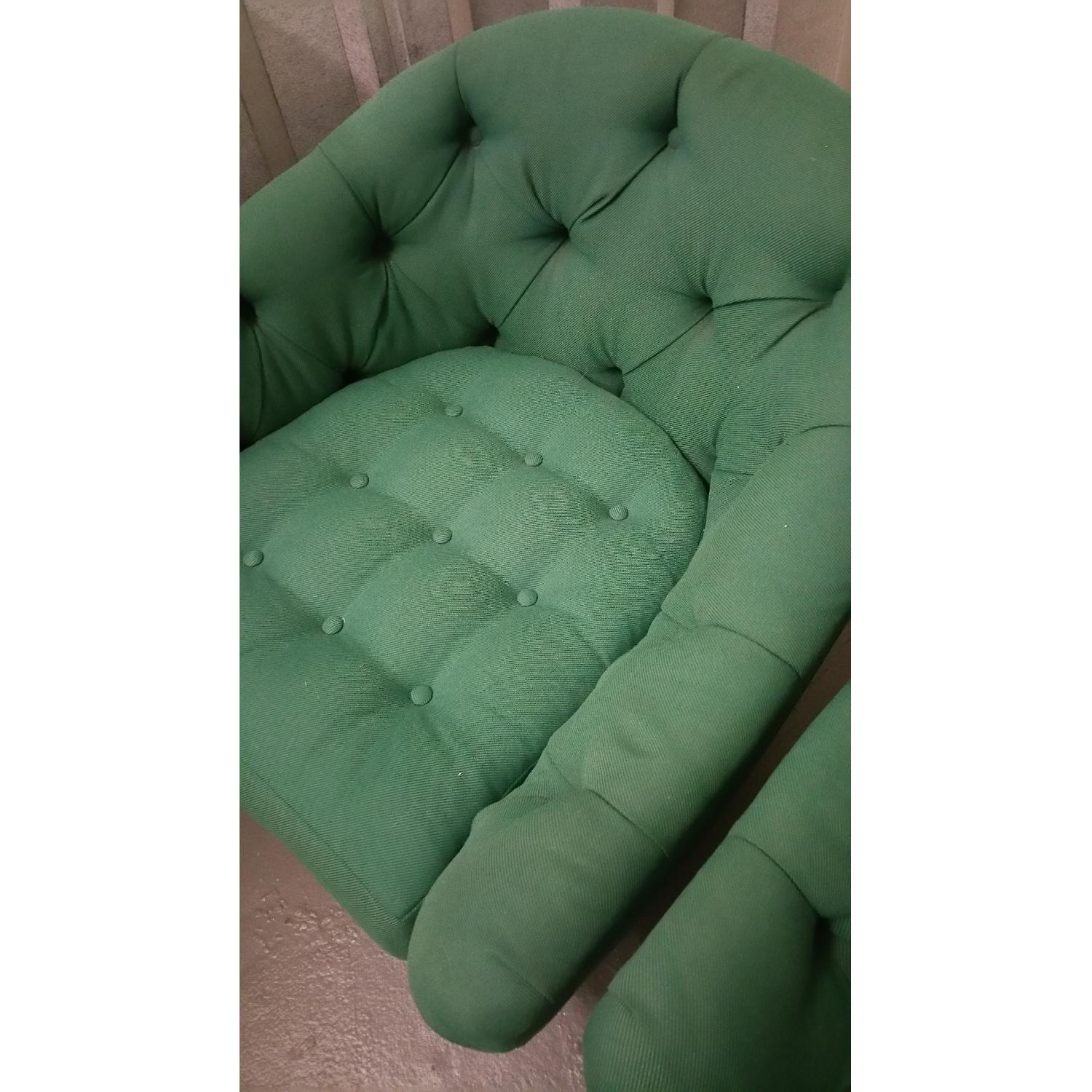 Emerald Green Swivel Tub Chairs - Pair - image-6
