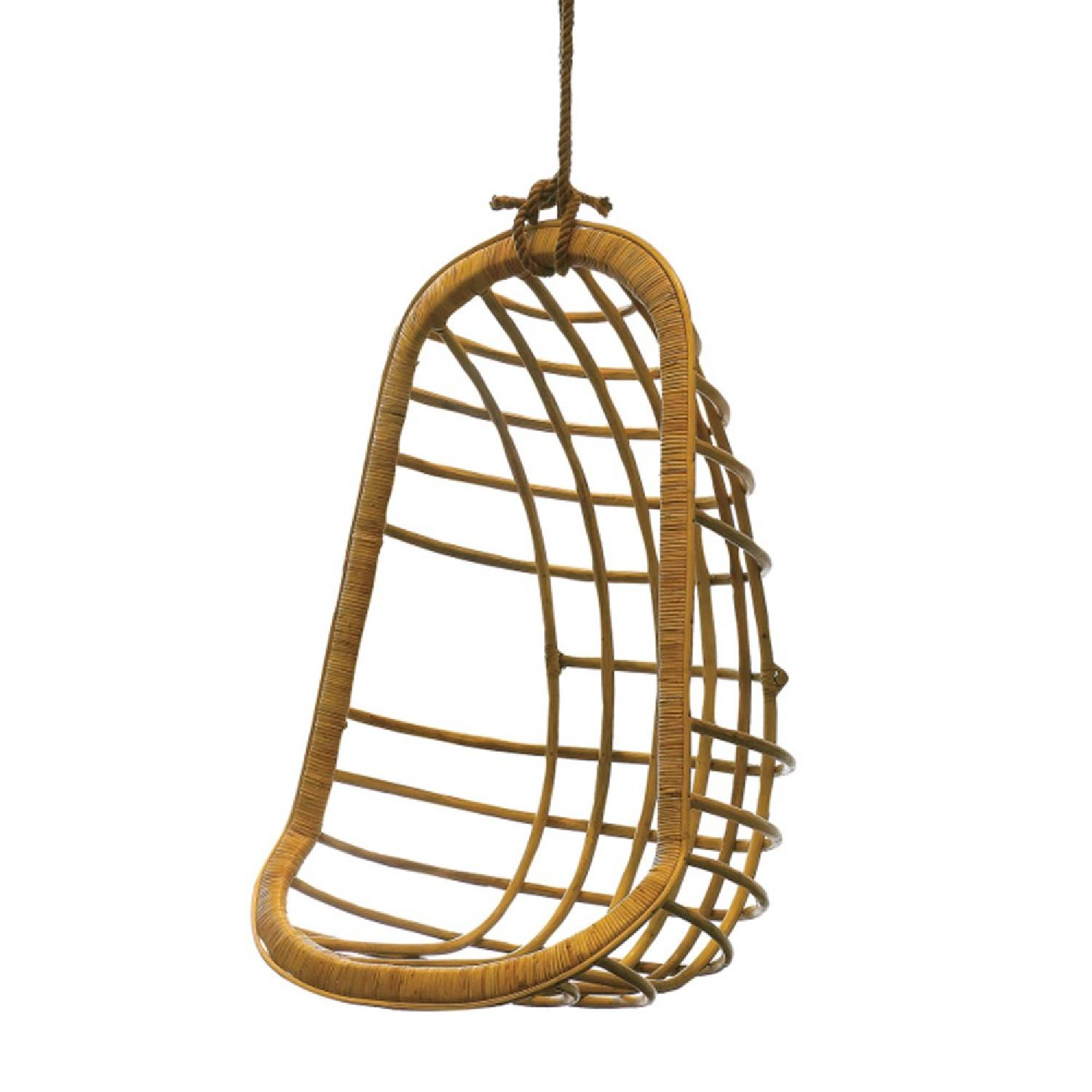 Twos Company Hanging Rattan Chair - image-0
