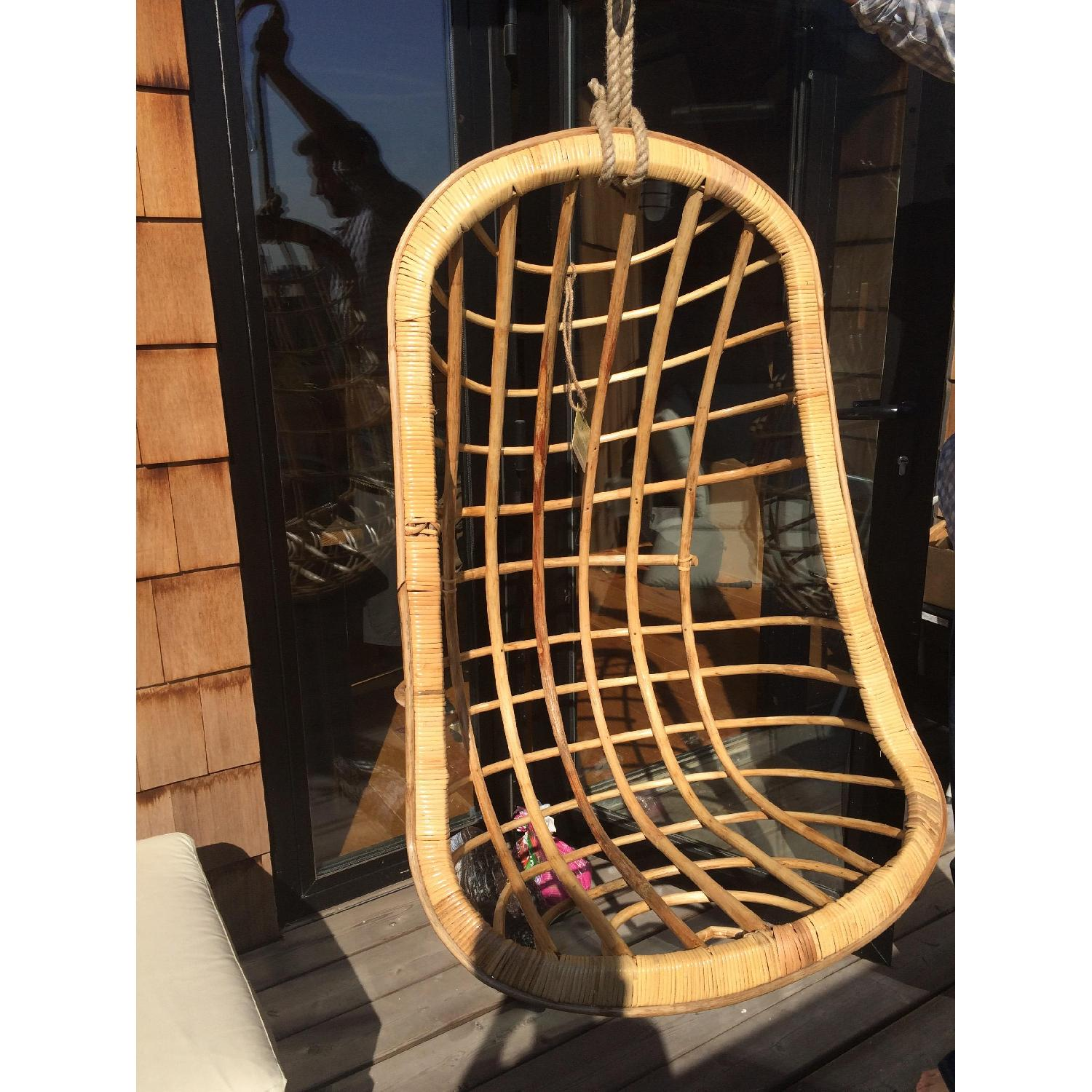 Twos Company Hanging Rattan Chair - image-2