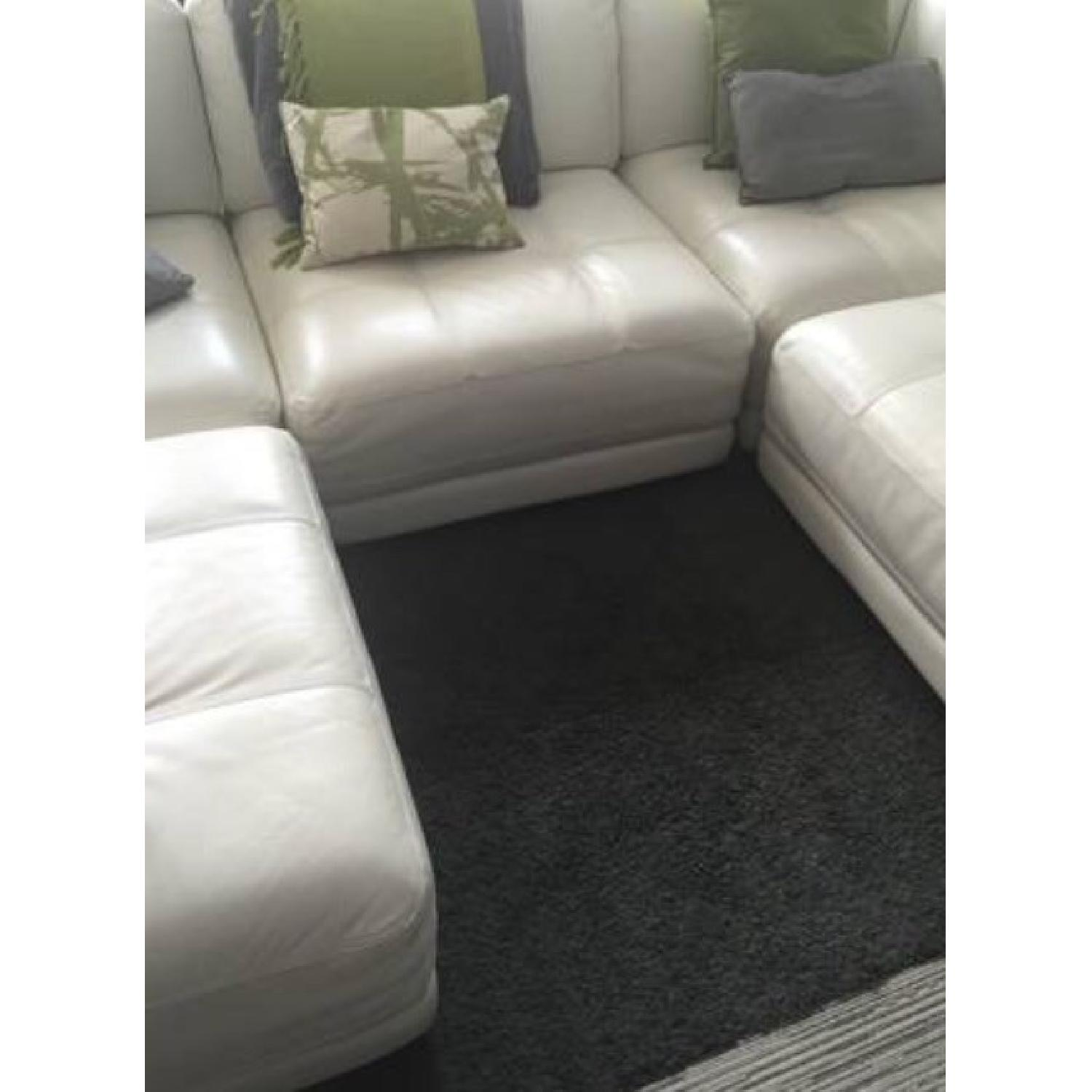 Vice Versa White Leather Modular Couch - image-1