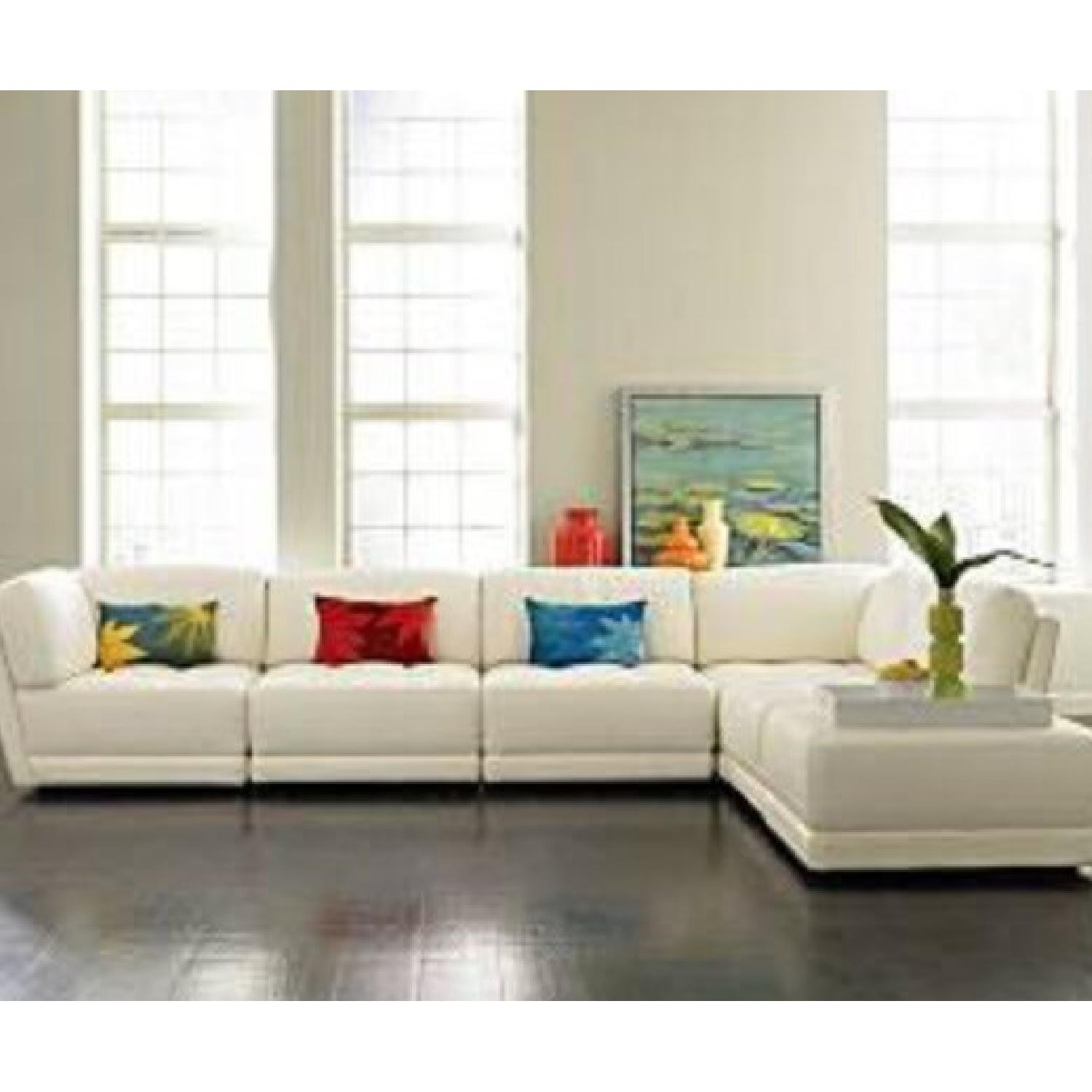 Vice Versa White Leather Modular Couch - image-3
