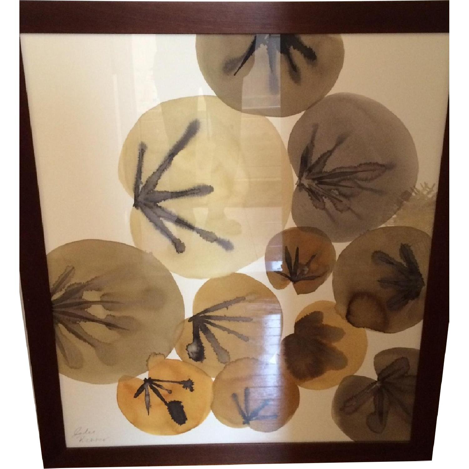 Crate & Barrel Lily Pads Wall Art - image-0