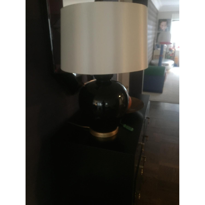 Bradburn Gallery Home Ebony Glaze Baja Table Lamp - image-1