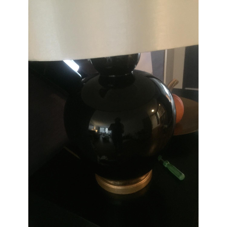 Bradburn Gallery Home Ebony Glaze Baja Table Lamp - image-2